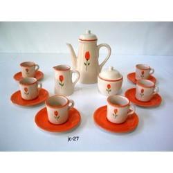 Juego de Café Tulipán Naranja
