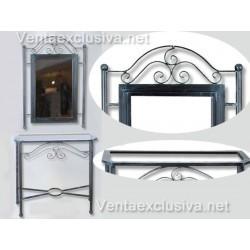 Mueble recibidor forja-610