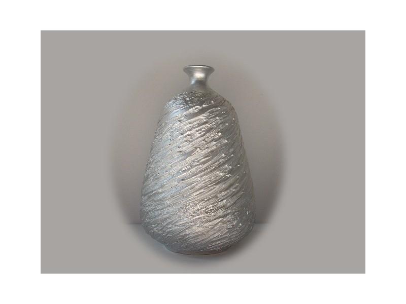 Jarrones color plata de cer mica floreros plateados - Jarrones plateados ...