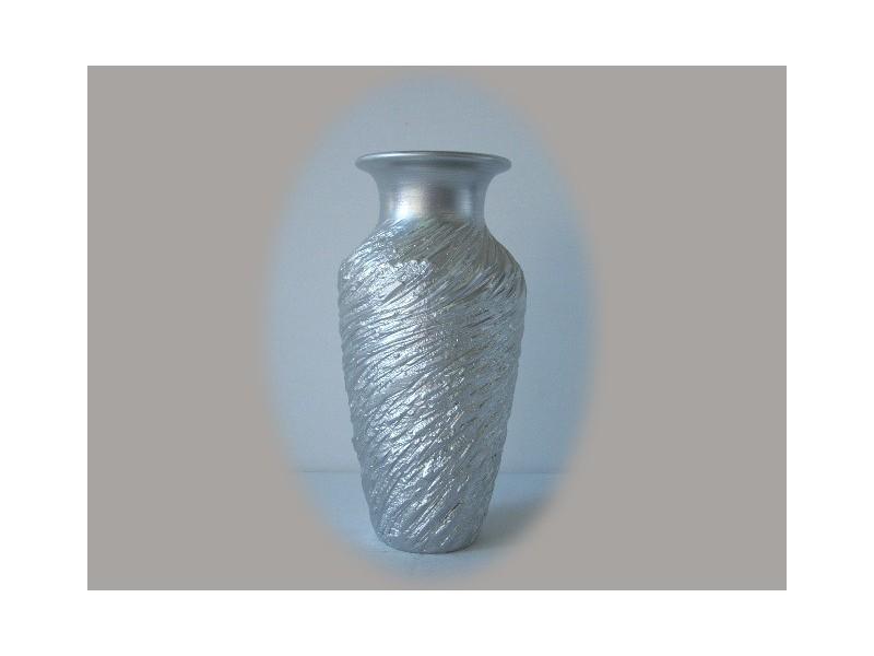 Floreros originales plateados de cer mica jarrones en color plata - Jarrones plateados ...